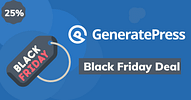 GeneratePress Black Friday